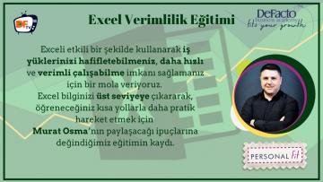 Excel Verimlilik Eğitimi DFTV Kapak